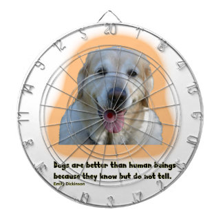 Dogs are better than human beings dartboard