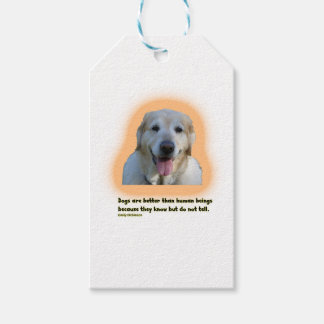 Dogs are better than human beings gift tags