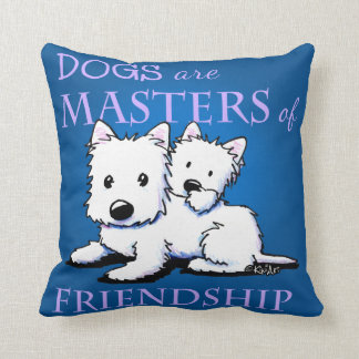 DOGS ARE ... Friendship KiniArt Pillow
