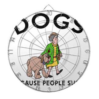 dogs because people suck dartboard