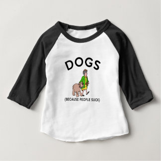 dogs because people suck gift t shirt