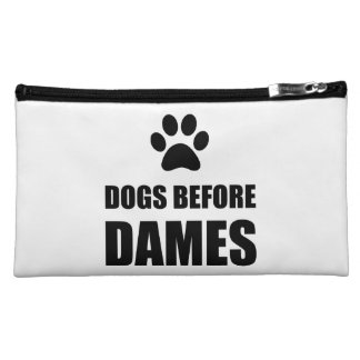 Dogs Before Dames Funny Makeup Bag