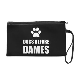Dogs Before Dames Funny Wristlet