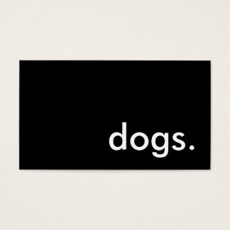 dogs. business card