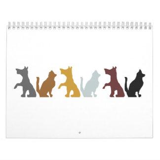 Dogs' cartoon wall calendar