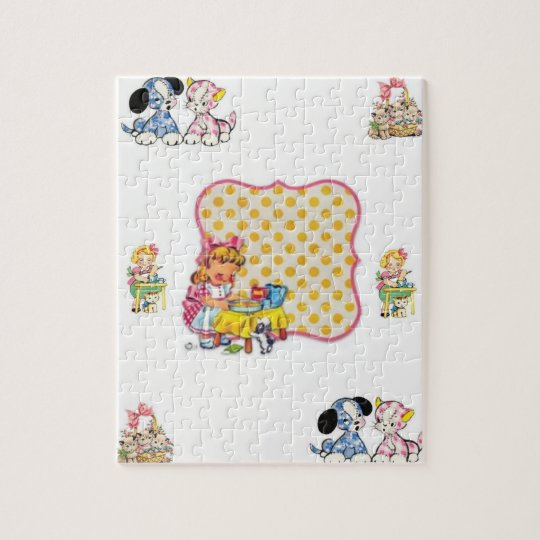 dogs cat vintage jigsaw puzzle