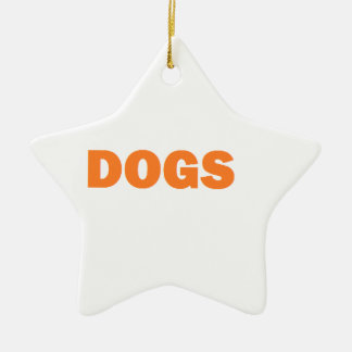 DOGS CERAMIC STAR ORNAMENT