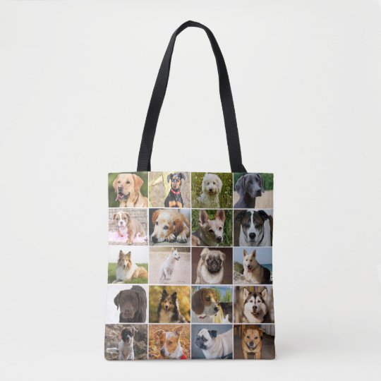 Dogs Collage Tote Bag