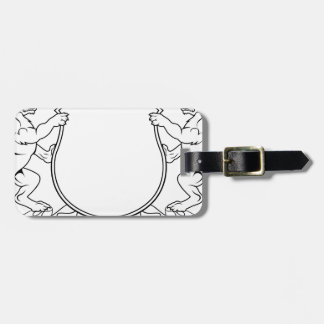 Dogs Crest Coat of Arms Heraldic Shield Luggage Tag
