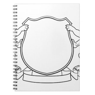 Dogs Crest Coat of Arms Heraldic Shield Spiral Notebook