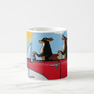 Dogs Cruising Coffee Mug