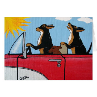 Dogs Cruising Greeting Card