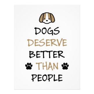 Dogs Deserve Better Customized Letterhead