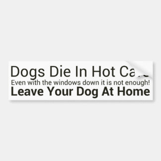 Dogs Die In Hot Cars Bumper Sticker