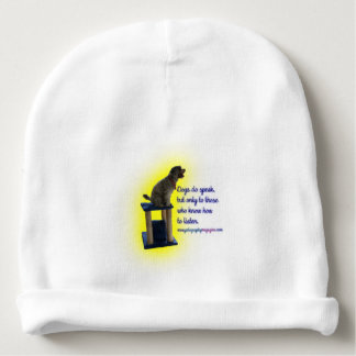 Dogs do speak baby beanie