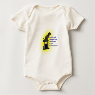 Dogs do speak baby bodysuit