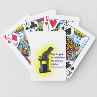 Dogs do speak bicycle playing cards