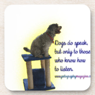 Dogs do speak coaster
