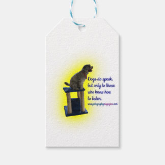 Dogs do speak gift tags