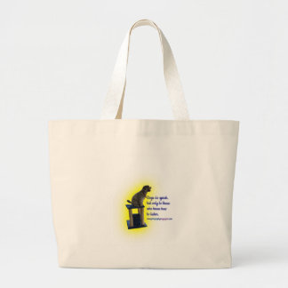Dogs do speak large tote bag