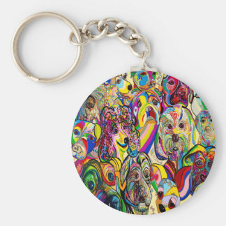 Dogs, Dogs, DOGS! Basic Round Button Keychain
