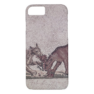 Dogs Fighting for a Bird, Roman, 2nd-3rd century ( iPhone 7 Case