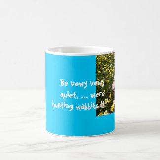 dogs flowers, Be vewy vewy quiet, ... were hunt... Coffee Mug
