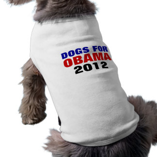 DOGS FOR OBAMA 2012 Pet Shirt
