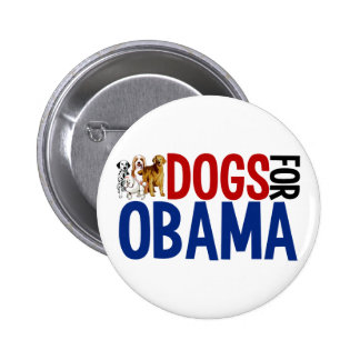 Dogs for Obama Button