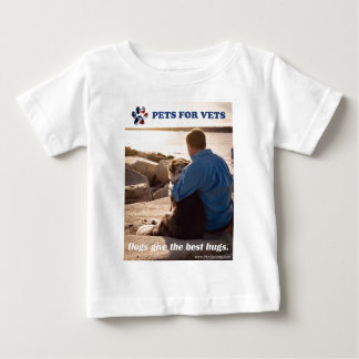 Dogs give the best hugs. baby T-Shirt