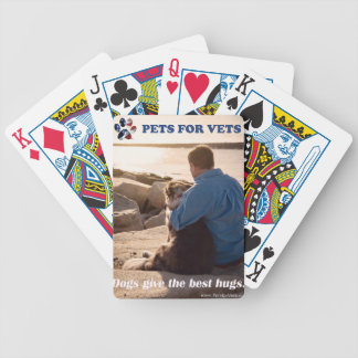 Dogs give the best hugs. bicycle playing cards