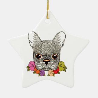 Dog's Head Ceramic Ornament