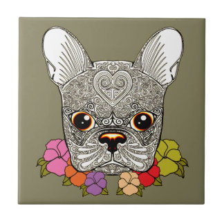 Dog's Head Ceramic Tiles