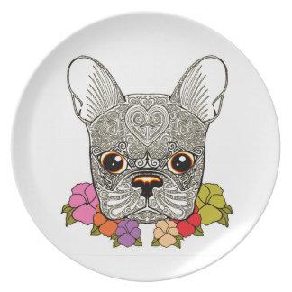 Dog's Head Dinner Plate