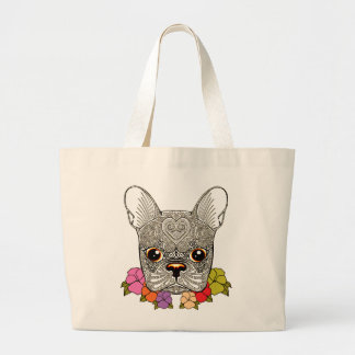 Dog's Head Large Tote Bag