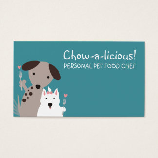 dogs homemade pet food chef business cards