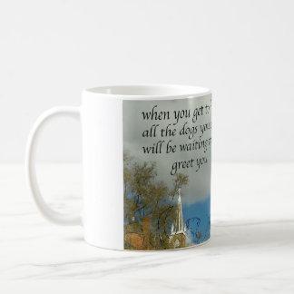dogs in heaven coffee mug