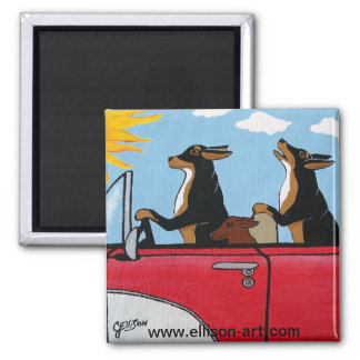 Dogs Joy Ride Magnet