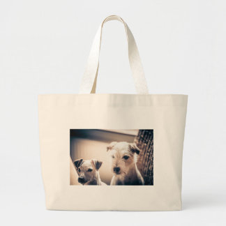 dogs large tote bag