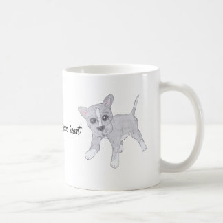 Dogs leave paw prints on your heart coffee mug
