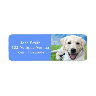 Dogs leave paw prints on your heart return address label