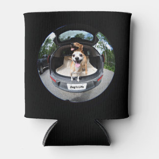 Dog's Life Fish-eye Lens Cute Funny Can Cooler