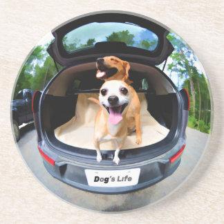 Dog's Life Fish-eye Lens Cute Funny Coaster