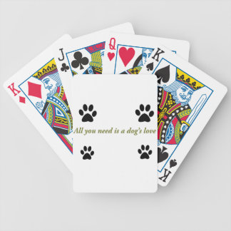 Dogs love bicycle playing cards