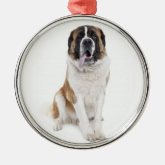 Dogs Love Christmas Too! Silver-Colored Round Ornament