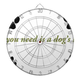Dogs love dartboard
