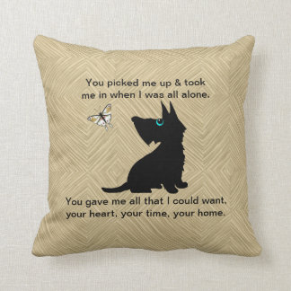 Dog's Love Too Throw Pillow