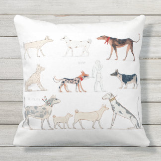 Dogs of Ancient Egypt Pillow