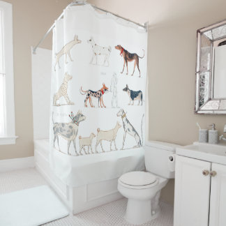 Dogs of Ancient Egypt Shower Curtain