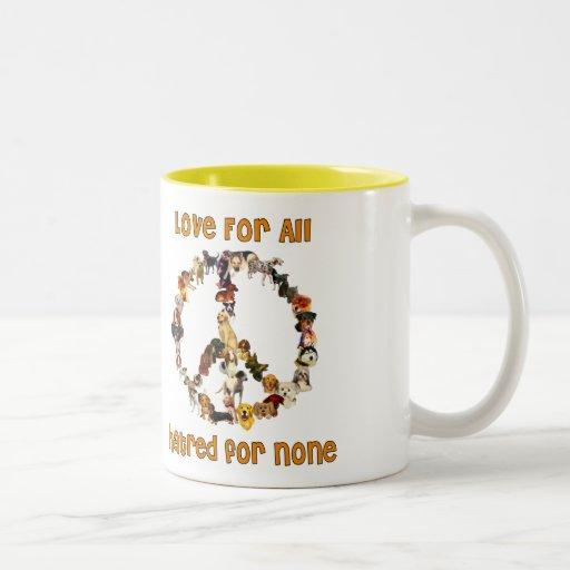 Dogs Of Peace Coffee Mugs